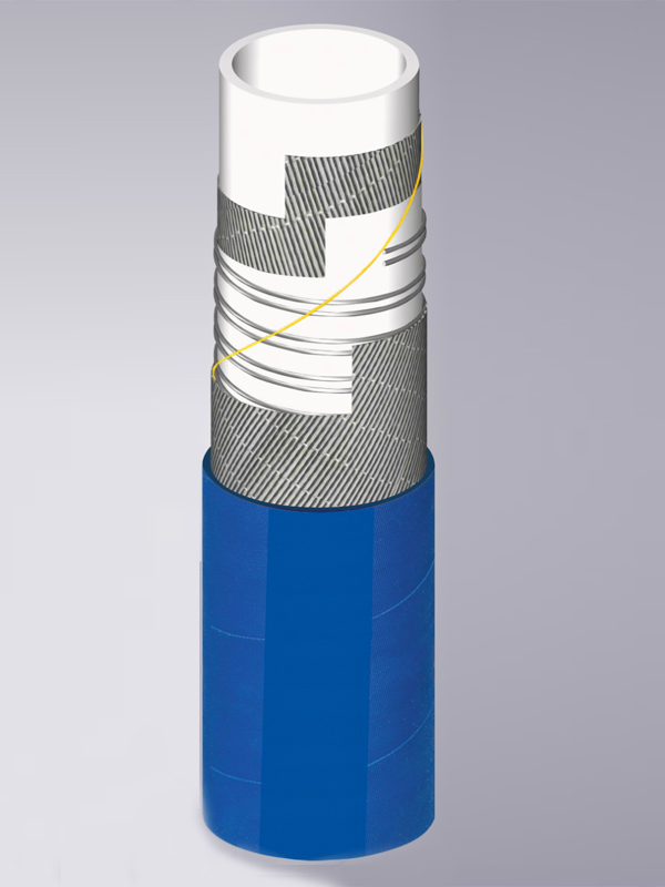 Резиновые рукава под химические вещества (голубой цвет)